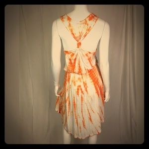Young Fabulous & Broke Orange Tie Dye Hi-Low Dress